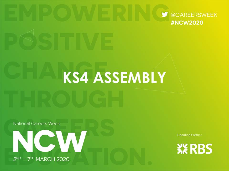 NCW 2020 KS2-4 Assemblies