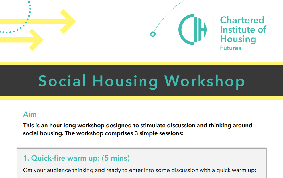 Careers In Housing Activity – Social Housing Workshop