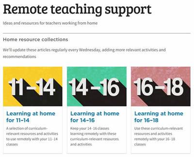 Remote teaching support from The RSC